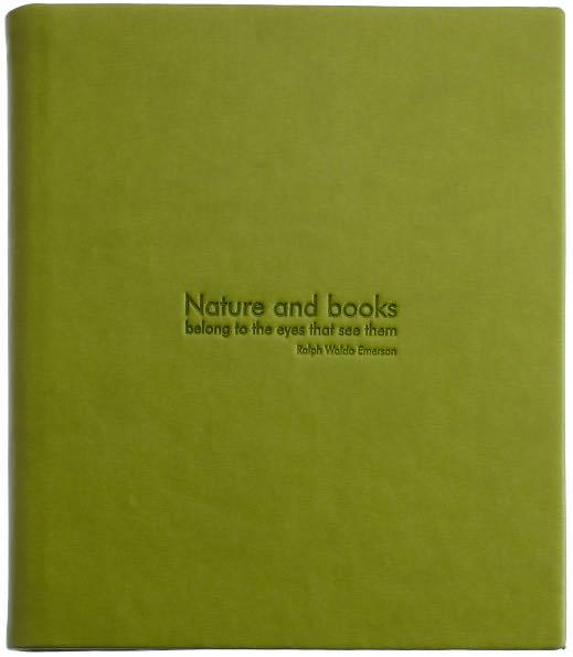 Coperta piele Nook Simple Touch cu citat (verde)
